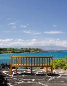 Bench for Kaunaoa beach observers — Stock Photo