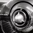 Futuristic chrome details of classic American car — Stock Photo