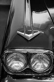 Details of elegant design of classic car from 70s — Stock Photo