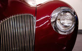 Fantastic grill details and shapes of classic American car — Stock Photo