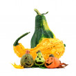 Halloween pumpkins, on white background.  — Stock Photo