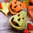 Halloween pumpkins, still life — Stock Photo
