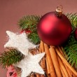 Christmas background with decorations. — Stock Photo
