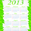 Stock Vector: Vector green calendar