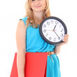 Beautiful woman with the clock  — Stock Photo #13176808