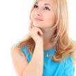 Thoughtful woman looking up — Stock Photo