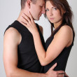 Young couple in studio — Stockfoto #13687800