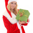 Woman in santa claus costume — Stock Photo #14037329