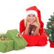 Woman in santa claus costume — Stock Photo #14039642