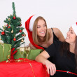 Stock Photo: Happy girls in christmas time