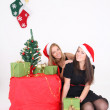 Happy girls in christmas time — Stock Photo #14137748