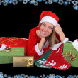 Happy woman with presents - Stock Photo