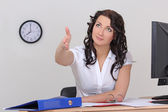 Business woman ready for handshake — Stock Photo
