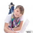 Young girl writing the letter — Stock Photo