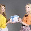 Two women with a gift box — Stock Photo #21246947