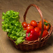Royalty-Free Stock Photo: Fresh vegetables in wooden basket