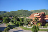 Big red house in Tivat, Montenegro — Stockfoto