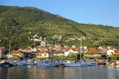 Yachts and boats in marina of Tivat — Stock Photo