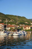 Picture of yacht harbor in Tivat — Stock Photo