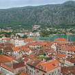 Kotor old town and Boka Kotorska bay, Montenegro — 图库照片