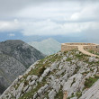 Viewpoint platform on the Lovcen mountain — Stock Photo