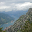 View from mountain in Montenegro — Stock Photo