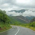 Asphalt mountain road in Montenegro — Stock Photo