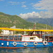 Stock Photo: Colorful water bus in port of Tivat