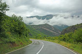 Asphalt mountain road in Montenegro — Foto Stock