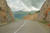 Road in mountains of Montenegro — Stock Photo