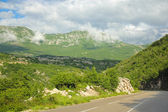 View of the mountains in Montenegro — Foto Stock