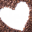 Coffee beans in the shape of a heart — Stock Photo