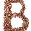 Letter B, alphabet from coffee beans on white background — Stock Photo #30630247