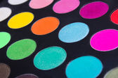 Make-up colorful eyeshadow palette closeup — Stock Photo