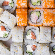 Close up of traditional Japanese food Sushi — Zdjęcie stockowe