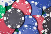 Close up of colorful poker chips — Stock Photo