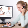 Concept photo - online consultation with doctor — Stock Photo
