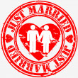 Grunge just married rubber stamp, vector illustration — Stock Vector #11905022
