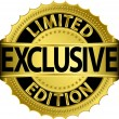 Limited edition exclusive golden label,vector illustration - Stock Vector