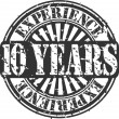 Grunge 10 years of experience rubber stamp, vector illustration — Stock Vector
