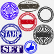 Grunge rubber stamp set, vector illustration — Stock Vector #13841003