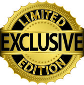 Limited edition exclusive golden label,vector illustration — Stock Vector