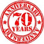 Grunge 70 years happy birthday rubber stamp, vector illustration — Stock Photo