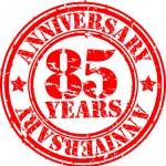 Grunge 85 years happy birthday rubber stamp, vector illustration — Stock Photo