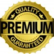 Premium quality guaranteed golden label, vector illustration - Stock Vector