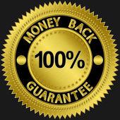 Stylish money back guarantee vector label — Stock Vector