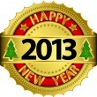Happy new 2013 year, vector illustration — Stock Vector