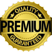 Premium quality guaranteed golden label, vector illustration — Stock Vector