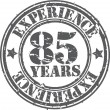 Grunge 85 years of experience rubber stamp, vector illustration — Stock Vector