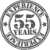 グランジ経験ゴム印、ベクター グラフィックの 55 年 — ストックベクタ